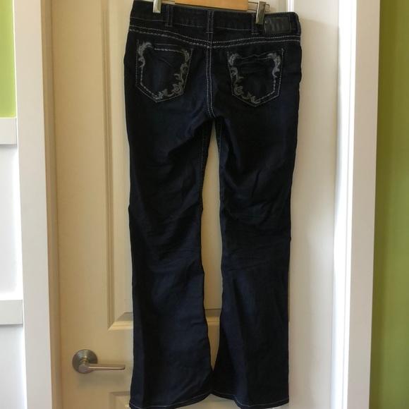 GUC Silver Suki dark embroidered jeans 31W/34L
